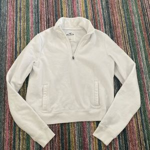 Hollister quarter zip sweatshirt